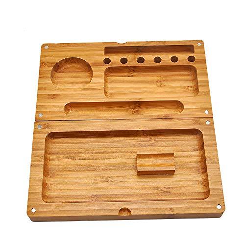 Loomiloo Weed Rolling Tray - Magnetische Drehbox aus Bambus Zum Drehen und aufbewahren von Tabak