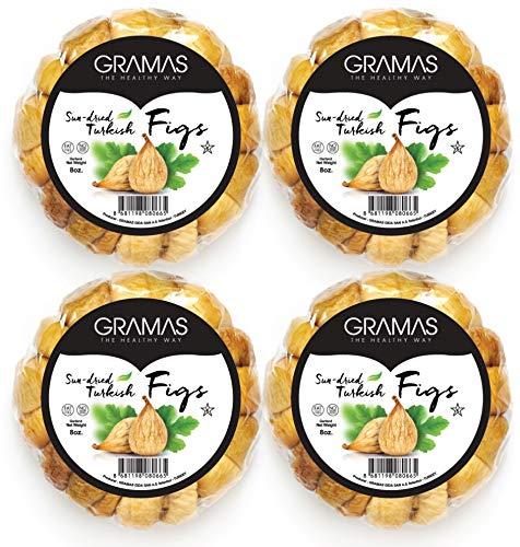 Gramas Natural Sun-Dried Figs in Garland Form, Vegan, Gluten-Free Calimyrna Figs, Non-GMO, No Added Sugar, No Sulfur, No Preservatives, Kosher (2 lbs.)