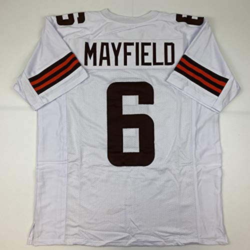Unsigned Baker Mayfield Cleveland 2020 White Custom Stitched Football Jersey Size Men's XL New No Brands/Logos