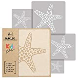 5 pcs Reusable Plastic Stencils // STARFISH // 13.4