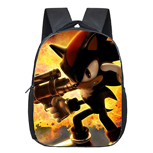 Sonic Backpack Super Sonic Shadow Backpack Children School Bags Boys Girls Primary Kindergarten Backpack Cartoon Mario Yoshi Print Small Bags
