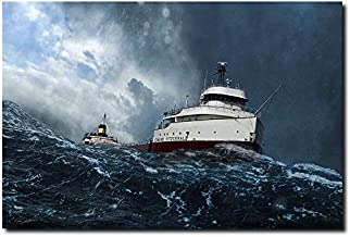 Planejunkie Witch of November by Peter Chilelli - SS Edmund Fitzgerald - Marine Art (Open Edition Paper - Medium- Image Size: 16