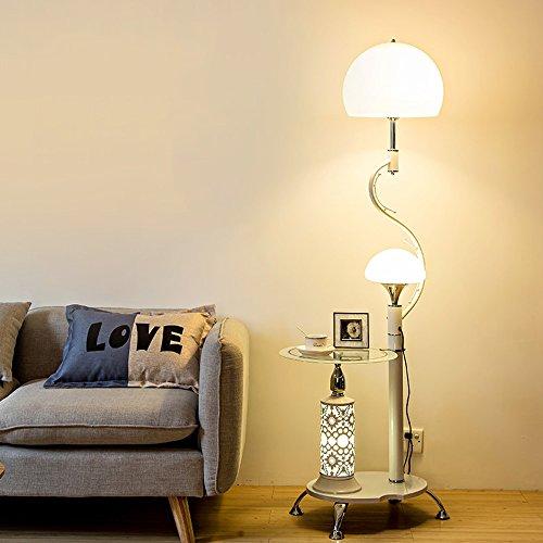 Lampe sur pied salon table basse simple chambre moderne protection des yeux lampe de bureau verticale étude créative lumières de piano ( Couleur : Blanc )