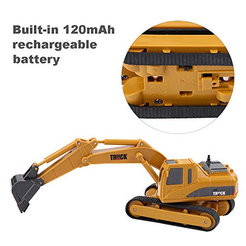 RC Auto kaufen Baufahrzeug Bild 4: Dilwe Fernbedienung Bagger Spielzeug, Mini RC Engineering Truck Auto Baufahrzeug Spielzeug Geschenk für Kinder Kinder*