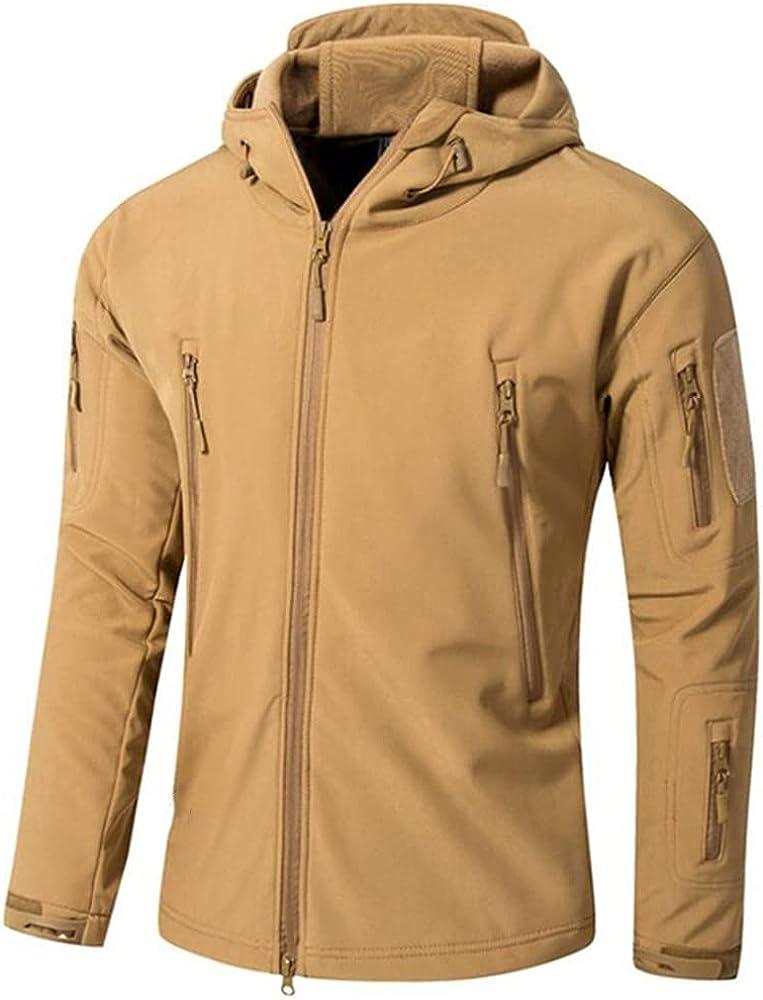 Soft Shell Fleece Jacket Men Outwear Thicken Plus Warm