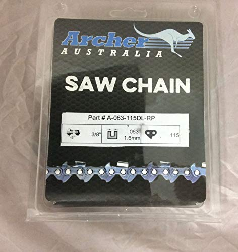 """Archer 36"""" 3/8-063-115DL Ripping Chainsaw Chain Replaces 75RD115G A3EP-RP-115E"""