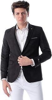 Andora Side Pockets Single Vent Gabardine Blazer for Men
