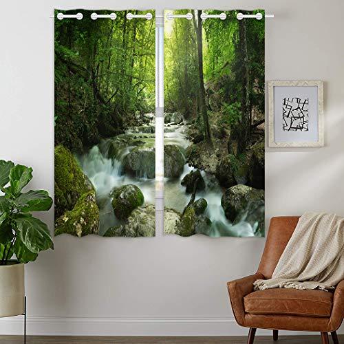 YISUMEI - Gardinen Blickdichter - Indisches Motiv,180 x 140 cm 2er Set Vorhang Verdunkelung mit Ösen für Schlafzimmer Wohnzimmer