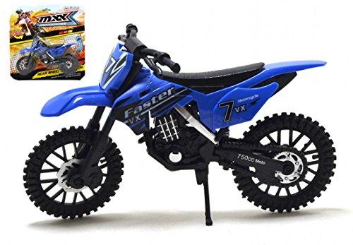 MXX Blau Motocross Motorrad Maßstabgetreues Modell Motorrad Spielzeug Fahrrad MXS Spielzeug Motorrad