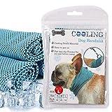DOGO Kühlhalsband Hund Bandana Atmungsaktiv Kühlendes Halstuch (L)
