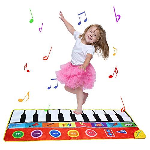 Coolplay ピアノ おもちゃ こども 知育玩具 音楽マット 8種楽器 録音 再生 148*60cm 大きいサイズ