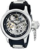 Invicta Men's Russian Diver Stainless Steel and Black Polyurethane Mechanical Watch, Black (Model: 1088)