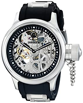 Invicta Men s Russian Diver Stainless Steel and Black Polyurethane Mechanical Watch Black  Model  1088