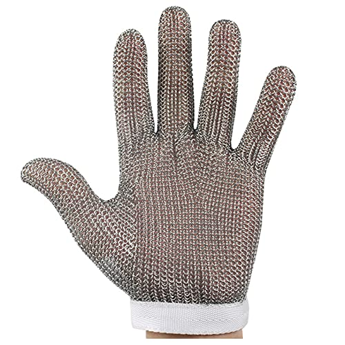 guantes anticortes Guantes de Trabajo, Guantes de Seguridad de Acero Inoxidable, manifestación antiestutable. (Size : XL)