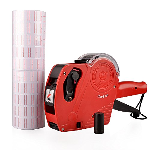 Wild-us MX5500 EOS Red 8 Digits Pricing Gun Kit with 7,000 Labels & Spare Ink