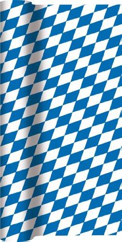 Onbekend tafelloper rol Beieren ruit/Airlaid/tafelband Beiers voor feest/verjaardag/Oktoberfest/tafelkleed 40 cm x 4,90 m