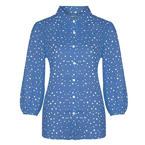 Bluas de Mujer Camisa Blusa Mujer Elegante Manga Corta Camisa Suelta Mujer Casual Verano Shirts Elegante Camiseta Cuello en V