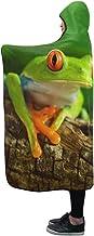 YXUAOQ Manta con Capucha Red Eye Frog Agalychnis Callidryas Manta 60x50 Inch Comfotable Throw Thrap Wrap