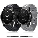 TOPsic Correa de Reloj para Garmin Fenix 5S, Banda de Reloj de Repuesto de Silicona Suave para Garmin Fenix 5S/Fenix 5S Plus/Fenix...