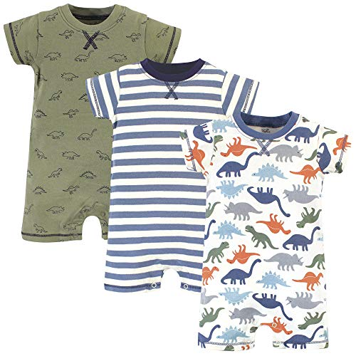 Touched by Nature Unisex Baby Organic Cotton Rompers, Bold Dinosaurs, 18-24 Months