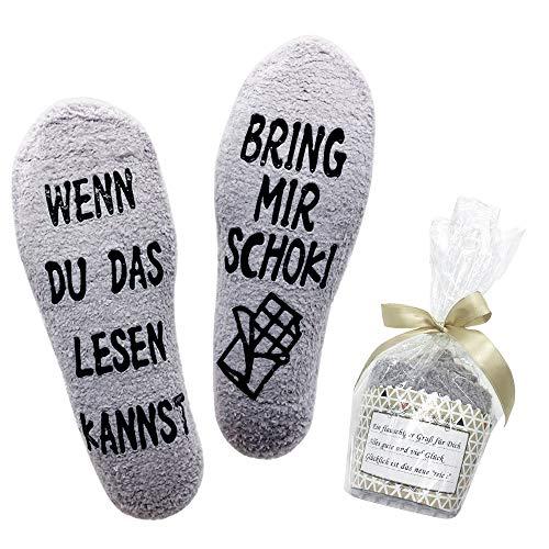 Belloxis Lustige Socken Damen Schokoladen Geschenke Wenn Du Das Lesen Kannst Socken