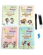 Escritura de caligrafía para niños, Libro de caligrafía para niños, Cuaderno mágico, Caligrafía mágica, Práctica de escritura mágica para niños, Libro mágico de caligrafía, Libro de caligrafía mágica
