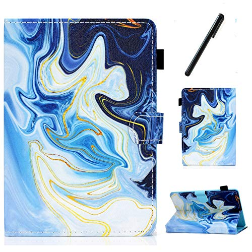 HereMore Apple iPad Mini 5 / Mini 4 / Mini 3 / Mini 2 / Mini 1 Case 7.9 Inch, PU Leather Case Shockproof Stand Cover with Card Slot and Pen Loop Protective Shell with Auto Sleep Wake, Marble