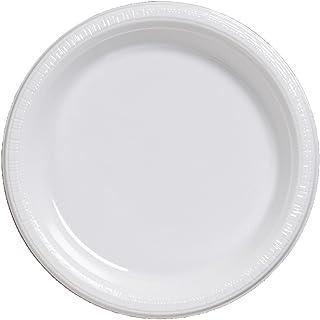 اطباق غداء دائرية تاتش اوف كولور من كريتيف كونفيرتينغ، 20 قطعة، مقاس 7 انش، لون ابيض