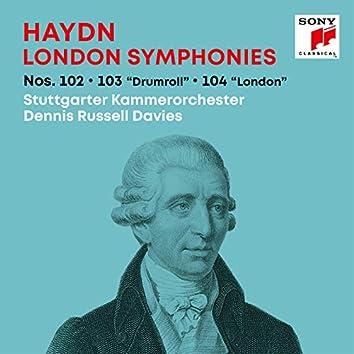 "Haydn: London Symphonies / Londoner Sinfonien Nos. 102, 103 ""Drumroll"", 104 ""London"""