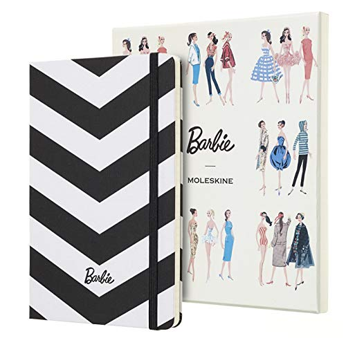 """Moleskine Limited Edition Barbie Notebook, Hard Cover, Large (5"""" x 8.25"""") Ruled/Lined, 240 Pages"""