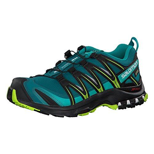 Salomon Damen XA Pro 3D GTX Trailrunning-Schuhe, Synthetik/Textil, türkis (deep lake/black/lime green), Gr. 37 1/3