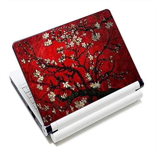 QPLKL Cherry Tree Print 12'13' 14'15' 15.4'15.6' Laptop Skin Decal Sticker Cover PVC Print Laptop Reusable Protector (Colore : 14)