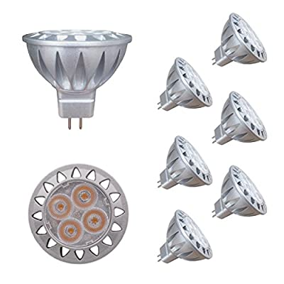 ALIDE MR16 Led Bulbs 5W Replace 20W 35W Halogen Equivalent,2700K Soft Warm White,12V Low Voltage MR16 GU5.3 Bulb Spotlights for Outdoor Landscape Flood Track Lighting,Not Dimmable,400lm,38 Deg,6 Pack