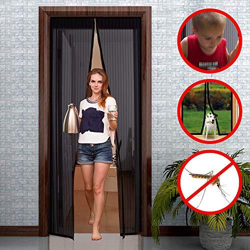 Preisvergleich Produktbild GIMARS Fliegengitter Tür Insektenschutz 90x210 cm / 100x220 cm / 110x220 cm Magnet Vorhang Fliegenvorhang Moskitonetz für Balkontür Wohnzimmer Terrassentür,  Klebmontage ohne Bohren