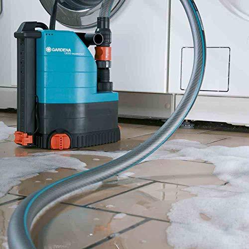 GARDENA 01785-61 Klarwasser-Tauchpumpe 13000 aquasensor, 650 W, türkis, schwarz, Orange