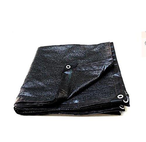 Pare-soleil net noir crème solaire net 8 broches cryptage épaississement ombre réseau ombrage net anti-vieillissement réseau d'isolation voile de voile parasol (Couleur : A, taille : 2 * 3m)