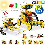HOMOFY STEM Toys 2020 New Upgrade Solar Robot Kit 12 in 1 Solar Powered DIY Learning Science Building Toys Science Kits for Kids 8-12 STEM Educational Toys for 8 9 10 11 12 Year Olds Boys Girls Gifts