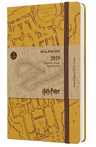 (modello precedente) - Moleskine 2019 Agenda Giornaliera Harry Potter 12 Mesi, in Edizione Limitata, Large, Beige - 21 x 1.3 cm
