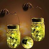 Ronana Mason Jar Solarleuchten, Laternen für Glühwürmchen, wasserdicht, rostfrei, 2 Packungen, 6...