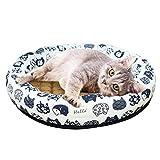 CeFoney - Cuccia per cani per cani e cani di piccola taglia e media con morbido cuscino rotondo ciambelle nidificante fresco estivo