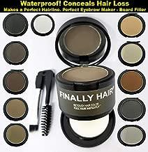 Finally Hair Black Dab-on Hair Fibers & Hair Loss Concealer, Hairline Creator, Eye Brow Enhancer, and Beard Filler. Dab-on Hair Fiber Shadow Powder (Black)