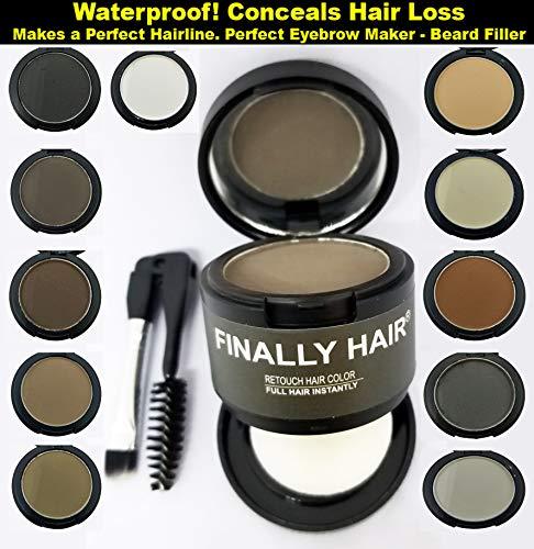 Finally Hair Auburn Dab-on Hair Fibers & Hair Loss Concealer, Hairline Creator, Eye Brow Enhancer, and Beard Filler. Dab-on Hair Fiber Cream (Auburn)