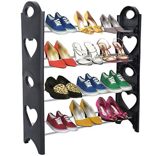 Iso Trade schoenenrek schoenenkast 12 paar schoenen 4 niveaus schoenenstandaard 5179