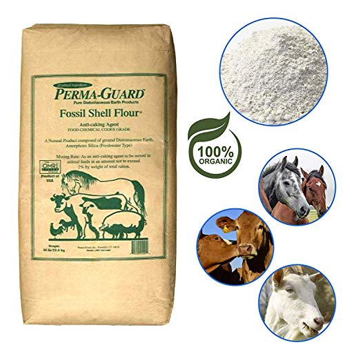 Perma Guard Bio50 EGP-DE-50A Diatomaceous Earth-DE Food Grade, 50 lb, White