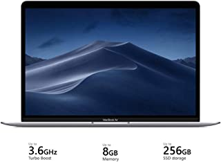 Apple Macbook Air (13.3'', Intel Core i5, 1.6GHz dual-core Turbo Boost up to 3.6GHz , 8GB LPDDR3, 256GB SSD, MVFL2ZS/A), English Keyboard - Silver