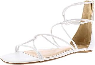 Schutz | Fabia Leather Gladiator Sandals | White