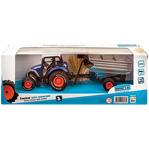 Wonder Kids WONDERKIDS Wdk Partner-A1500135-Véhicule Miniature-Modèle Simple-Tracteur en Métal + Remorque, A1500135