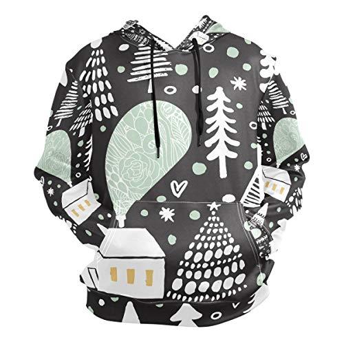 Casa Negra Nieve Sudadera con Capucha Sudaderas Deportivas con Estampado 3D Impresión Hoodie Sweatshirt para Niñas Niños Hombres (Tela Saludable)