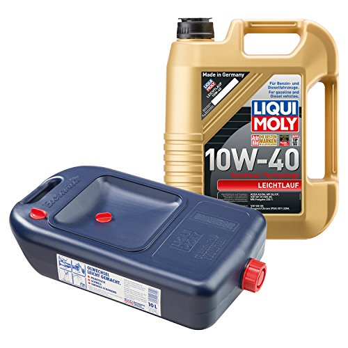 LIQUI MOLY Leichtlauf Motoröl 10W-40 5L 1310 + Ölwechsel Kanister 7055