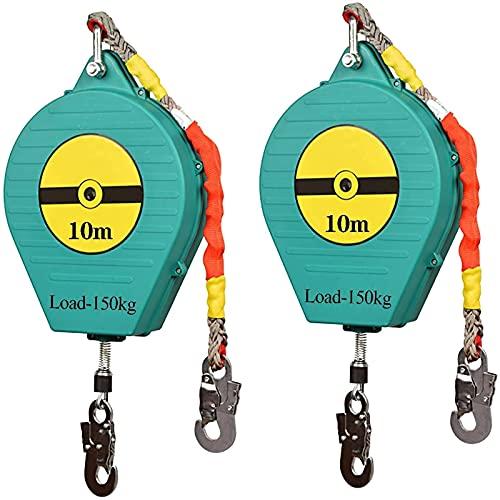 HHORB 2 Cables De Línea De Vida Autorretráctiles De 10 M, Protector...